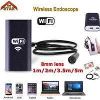 Stardot HD 720P 8mm WIFI Endoscope Camera 5M 3 5M 2M 1M Snake USB Iphone Android