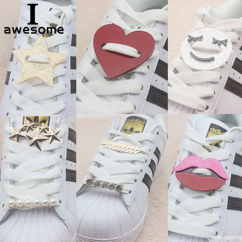 DIY Free To Match Rhinestone Plastic Metal Shoe Decorations For Shoes Lace Shoe Accessories For Casual Shoes Flats For Sneakers