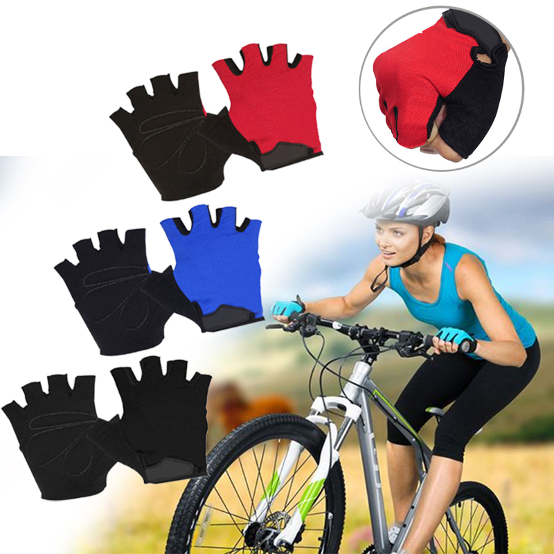 3 Colors Sweat Reticular Structure Fitness Mittens Sturdy Practical Riding Dumbbell Gym Outdoor Sport Half Finger For Skiing