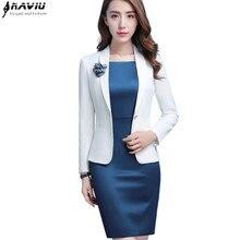 Formal Jacket White Blazer Professional Women Spring Business Office Lady Plus-Size Fashion