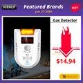 Detector de GAS KERUI GD13, alarma LED Digital inalámbrica, Detector de Gas Combustible para fugas naturales, sistema de alarma para el hogar