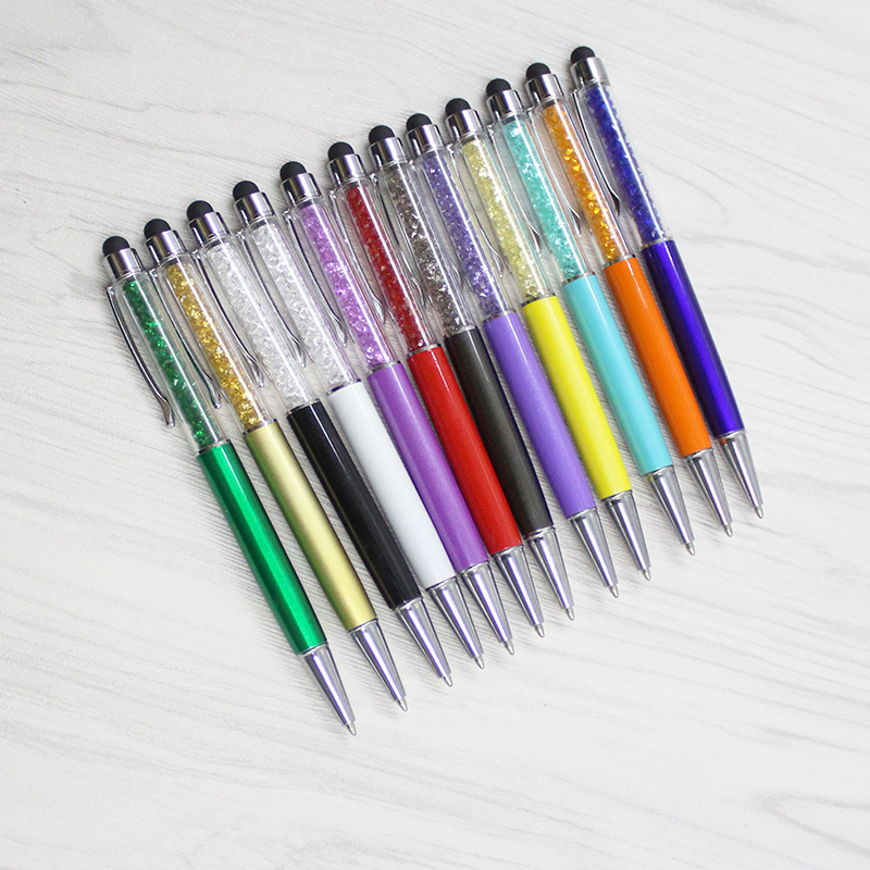 12 color crystal pen diamond ballpoint pen stationery ballpoint pen Caneta novelty gift Zakka office supplies school supplies in Ballpoint Pens from Office School Supplies