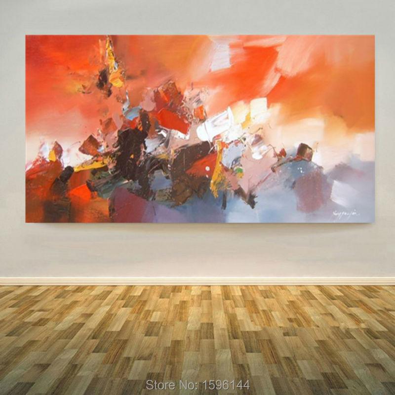 100% Ručně malované plátno olejomalba Moderní nástěnné umění domova Obraz abstraktní olejomalba Ozdoby CX328-2