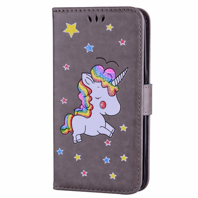 samsung s6 edge flip case unicorn