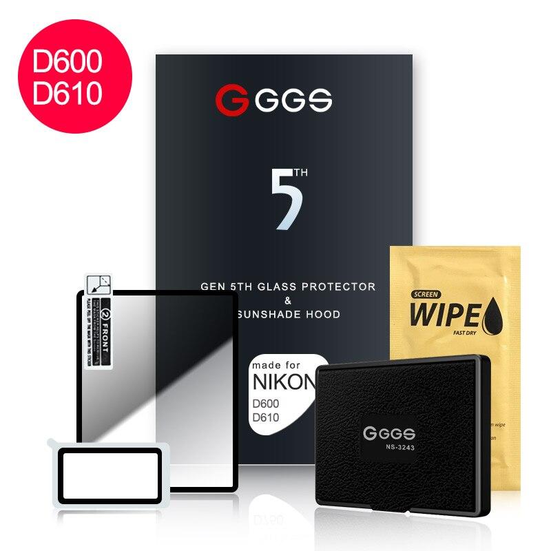 GGS cinquième génération pour NIKON D600 D610 grand écran caméra film protection écran métal cadre intégré verre optique