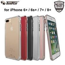 TOIKO Chiron Прозрачный чехол для iPhone 6 6S 7 8 плюс противоударный Гибридный PC ТПУ бампер прозрачный защитный мобильный телефон задняя крышка