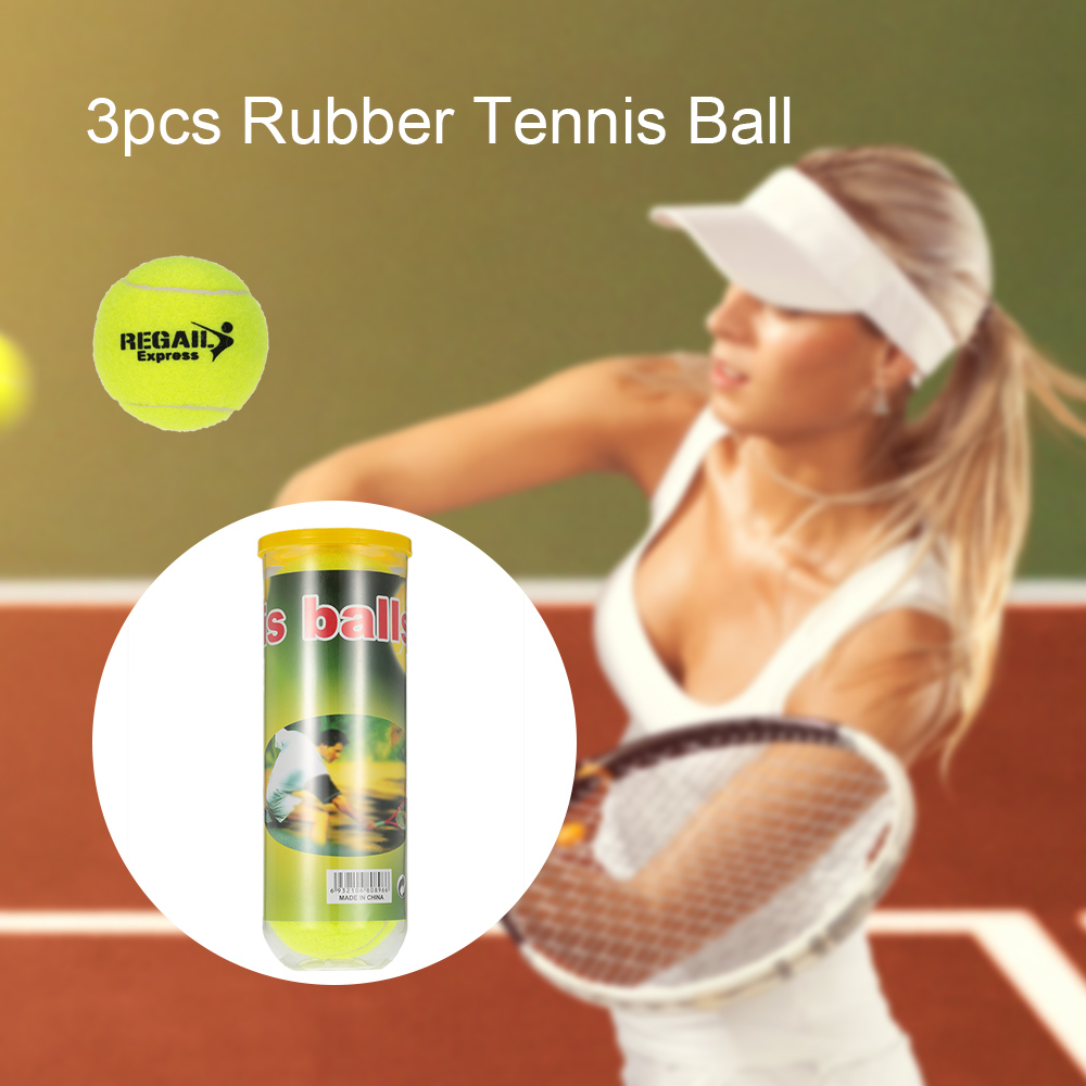 3PCS/Can Outdoor Sports Tennis Training Balls Tennis Training Ball Practice High Resilience Training Durable Tennis Balls