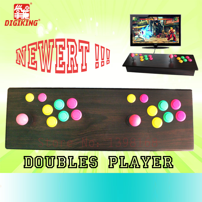2015 Street fighting Double arcade games console/ arcade video game machine AV out / Two-player video game 4 player hdmi console raspberry pie3 arcade machine