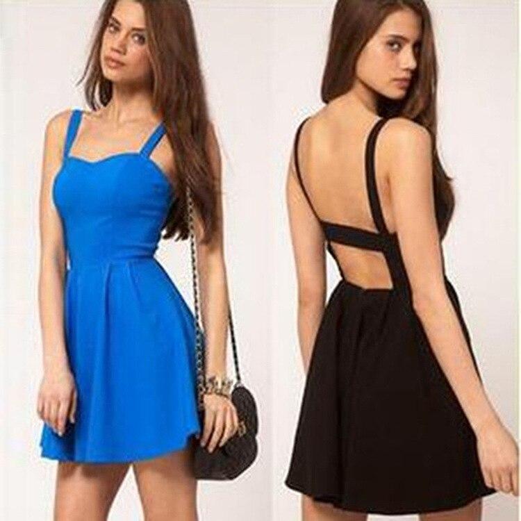 Online Shop 2015 summer Casual women Dress backless dress ...