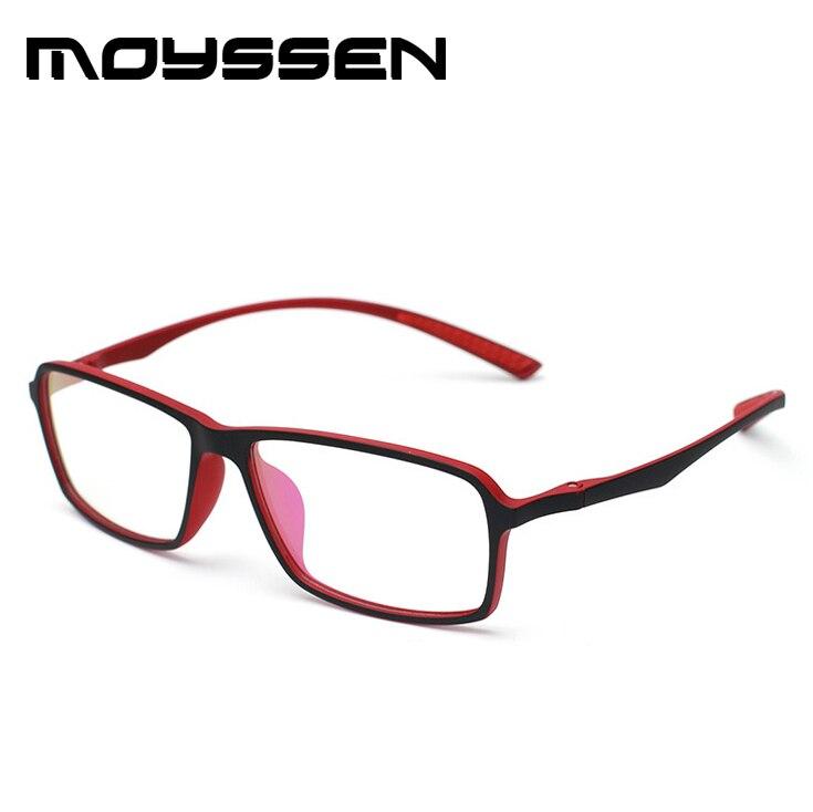 ee164d1df431 Moyssen New arrival Men s Business Ultra light TR90 Flexible Big Square Frame  Eyeglasses Myopia Prescription Glasses Frames-in Eyewear Frames from  Apparel ...