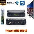 DVB-S2 Receptor Decodificador de satélite Freesat V7 + WIFI USB com HD 1080 p Chave BISS cccam cline para 1 ano Powervu receptor de satélite