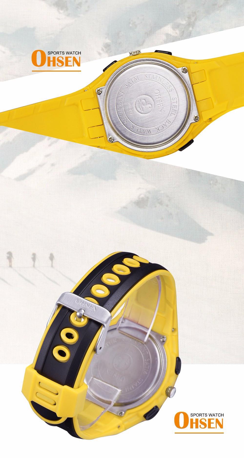 Original Ohsen Brand Fashion Sports Men's Watches 30M Waterproof Rubber Black Rubber Band Digital Sport Wristwatch for Men Gift (21)