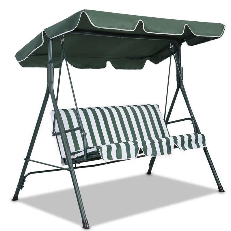Cubierta superior impermeable del verano reemplazo del dosel para jardín patio silla columpio al aire libre hamaca toldo oscilante silla toldo