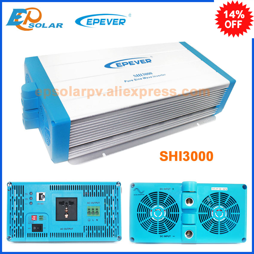 SHI3000-22 SHI3000-42 Dc 24v 48v to AC 220v 230v pure sine wave 3000w off grid tie EPEVER inverter high efficiecny maylar 22 60vdc 300w dc to ac solar grid tie power inverter output 90 260vac 50hz 60hz