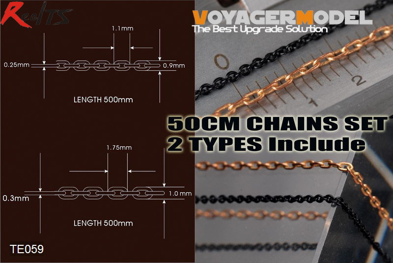RealTS Voyager TE059 50cm Chains set (2 types) (GP) RealTS Voyager TE059 50cm Chains set (2 types) (GP)