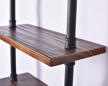 Industrie Rohr Regale Bücherregal Rustikalen Moderne Holz Leiter Lagerung Regal 3 Tiers 24 ''Retro Wand Montieren Rohr Regale
