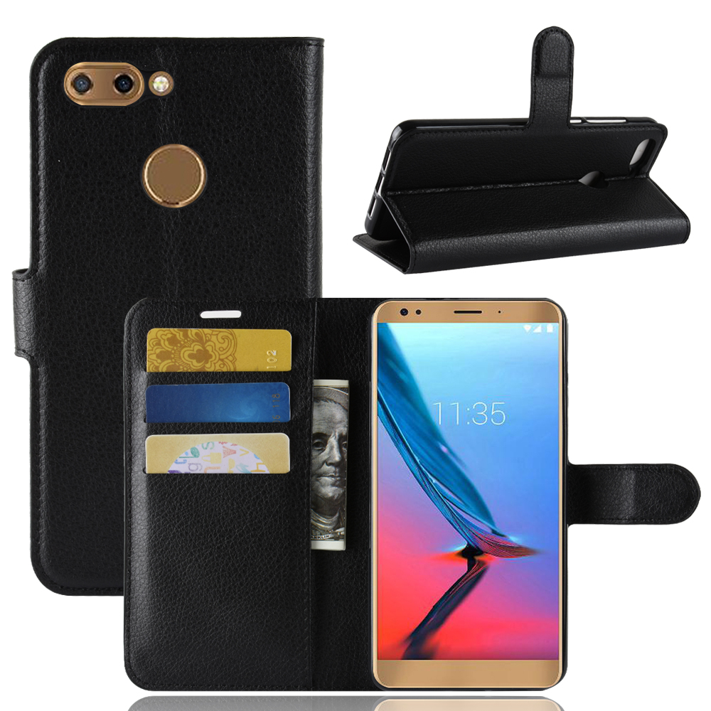 V9 Case for ZTE Blade V9 Cover Wallet Card Stent Lichee Pattern Flip Leather Protect Cases black Covers for ZTE-V9