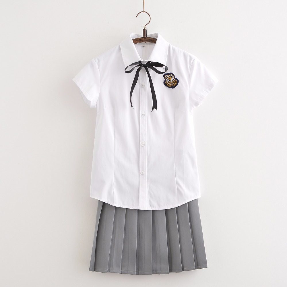 Hot Sale Short Sleeve Shirt And Skirt JK Uniforms Cosplay Japan School Uniform XJ7205 ...