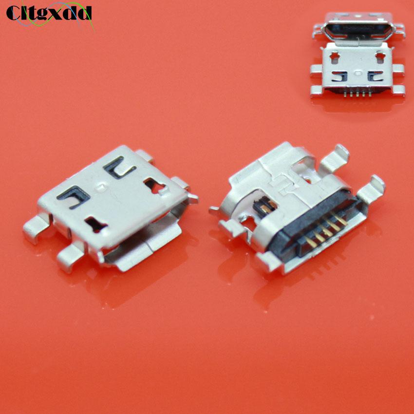 Cltgxdd Micro prise USB 5 broches | 10 pièces, port V8, pour Lenovo S880 / Xiaomi 1 2 / Huawei C8650 U8661 / OPPO R801 T703