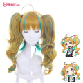 Kiznaiver Niyama Nico Lolita Cosplay Wigs Long Wavy Yellow Green Mixed Color Synthetic Hairs
