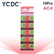 10pcs/pack AG4 LR626 377 Button Batteries SR626 177 Cell Coin Alkaline Battery 1.55V 626A 377A CX66W For Watch Toys Remote tianqiu ag4 lr626 377 1 55v alkaline cell button battery silver 10 pcs