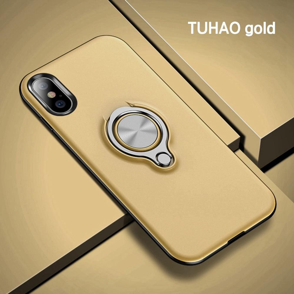 OTAO Magnetic Finger Ring Holder Phone Case For iPhone XS MAX XR X 8 7 6 6S Plus Slim Cases 360 Degree Rotation Car Holder Cover