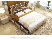 Из натуральной кожи Каркас кровати с хранилищ ящики современная мягкая кровати домашнего Спальня мебель Кама muebles де dormitorio камас кварто