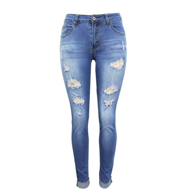 Women Jeans Pants Skinny Pearl Beaded Front Jeans Summer Spring Mid Waist Zipper Long Denim Casual Pants (12)