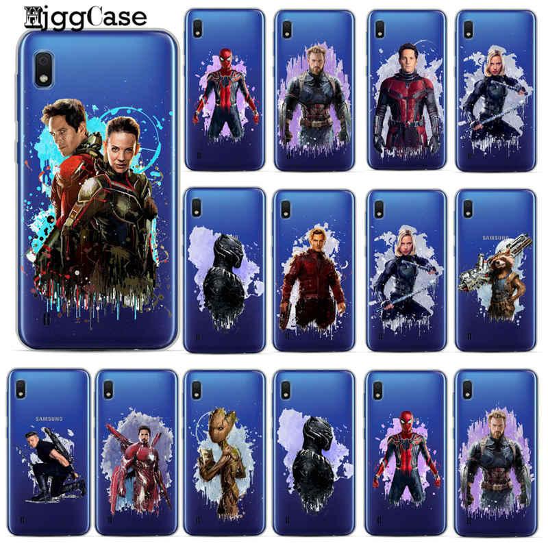 Legal Homem Spiderman Marvel Avengers Case Para Samsung A10 A20 A30 A50 A70 A6 A8 A7 A9 2018 S10 S10e s8 S9 Plus M10 M20 Casos Capa