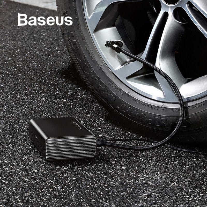 Pompe portative de compresseur d'air de voiture de gonfleur Intelligent de pneu de Baseus DC pompe gonflable automatique de pneu de 12 volts pour la voiture avec des lumières de LED
