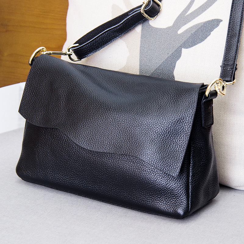 Women Genuine Leather Flap Shoulder Bags Female Handbags Ladies Messenger Crossbody Bag Luxury Fashion Purse Totes