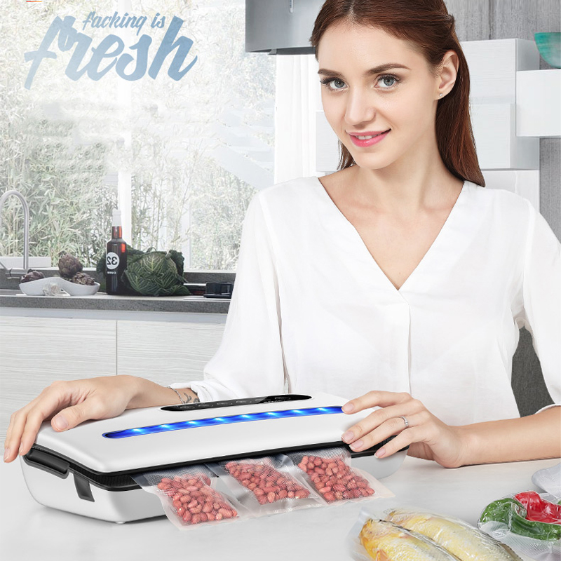 YTK Vacuum Sealer Best Fully Automatic Portable Household Food Wet Dry 220V 130W 36X15X7cm Packaging Machine