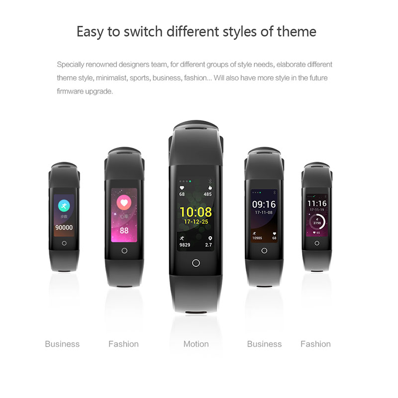 Hot Selling  Smart Band 0.96 inch Color Screen Heart Rate Blood Pressure Monitor Fitness Tracker Smart Bracelet For IOS Android
