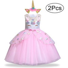 Easter Girls Dress 2Pcs Kids Dresses For Girls Unicorn Party Dress Toddler Cosplay Princess Dresses 2 3 4 5 6 7 8 9 10 Year лосьон детский eugene perma терапия и профилактика педикулеза 100 мл