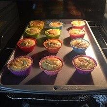 12pcs Silicone Mold Heart Cupcake Cake Mold Muffin Baking Mold