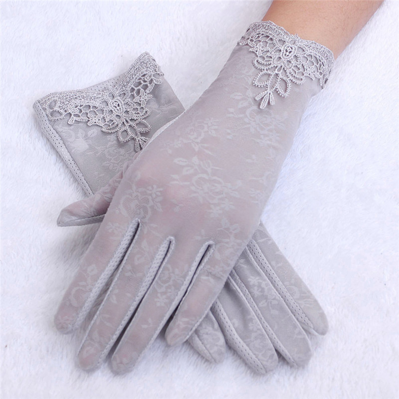 Women's Summer UV-Proof Driving Gloves Gloves Lace Gloves luvas hand gloves guantes eldiven handschoenen #2O28 2