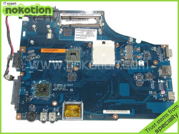 NOKOTION laptop motherboard for TOSHIBA SATELLITE L450 L450D series LA-5831P K000085470 DDR3 Mainboard Mother Boards full tested k000085460 motherboard for toshiba satellite l450 l455 gl40 la 5821p