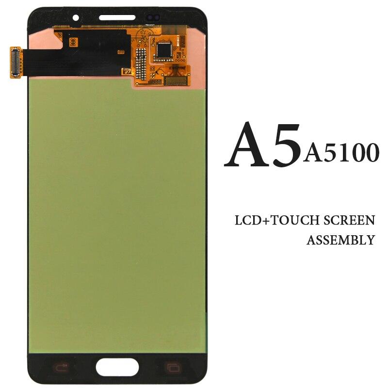 5,2 zoll AMOLED Schwarz Weiß Pantalla Für Samsung Galaxy A5 2016 LCD Bildschirm A510 A5100 A510F A510M A510FD A510Y Display montage