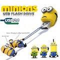 Envío gratis Nuevo Pendrive Minions USB 2.0 Flash Drive 64 GB 32 GB 16 GB 8 GB Despicable Me 2 Pen Memory stick U Disco pendrive