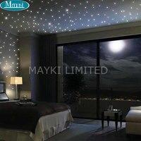 Maykit 32 Watt RGB Led Led-lichtwellenleiter-sterne-licht Motor Multicolor Dual Ports Farbwechsel Led Glasfaser-leuchten Für Sternen decke