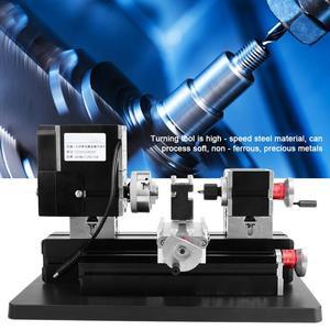 Image 5 - TZ20002MGP Dc 12V 5A 60W High Power Mini Metalen Draaibank Hoge Precisie Diy Houtbewerking Frezen Boren Draaibank Machine tool Us Plug