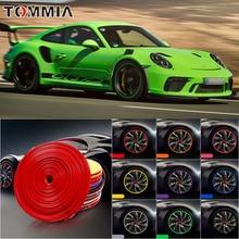 8M Car Wheel Hub Rim Edge Protector Ring Tire Strip Guard Rubber Decals For Porsche 911