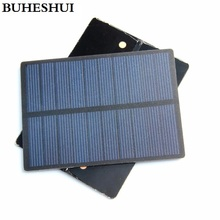 BUHESHUI Wholesale 1.3W 5V Solar Cell Module Polycrystalline PET Solar Panel DIY Solar Charger 110*80MM 50pcs/lot Free Shipping