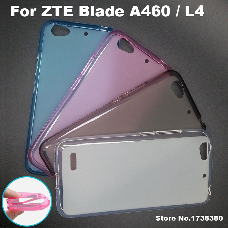 promo code 13300 6680a Fundas For ZTE Blade A460 / L4 Case Cover 4 Colors Matte TPU Soft Back  Cover Phone Case For ZTE Blade A460 / L4 Back Cover Case-in Half-wrapped  Case ...