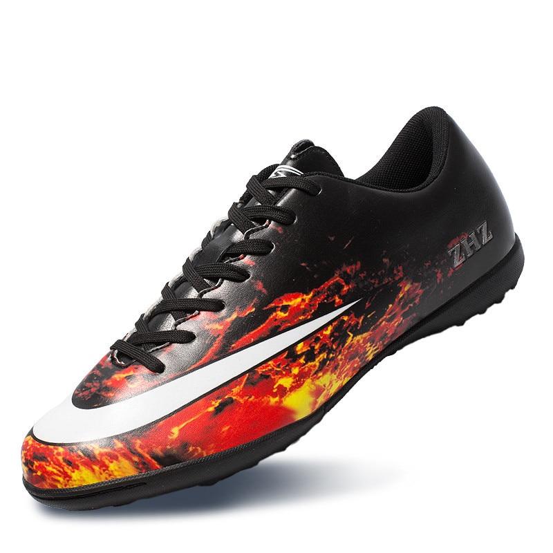 d81fbb316fc5b ZHENZU marca profesional de fútbol de los hombres zapatos al aire libre de  las mujeres al aire libre TF de fútbol de césped tacos zapatillas Zapatillas  ...