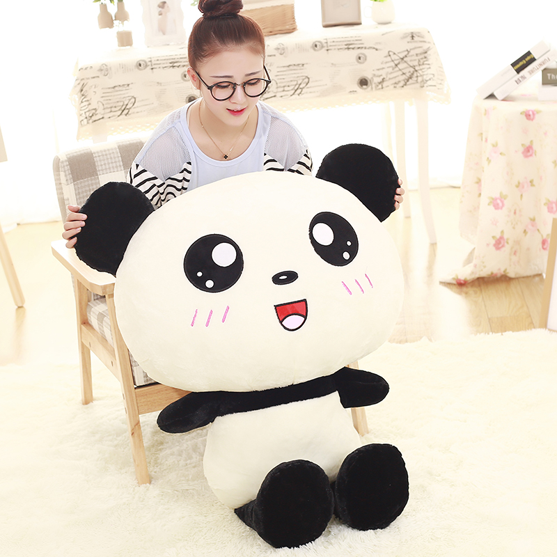 50cm Kawaii Big Head Panda Plush Toys Stuffed Soft Animal Pillow Cute Cartoon Bear Gift for Children Kids Baby Christmas Gift mini kawaii plush stuffed animal cartoon kids toys for girls children baby birthday christmas gift angela rabbit metoo doll