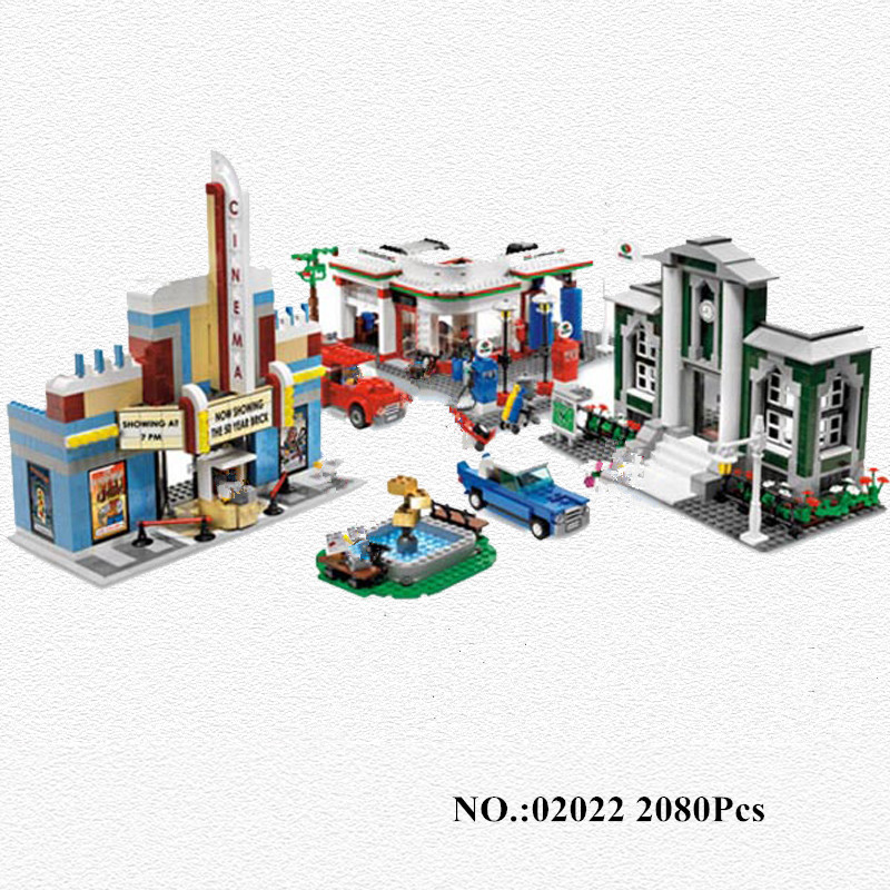 H&HXY 02022 2080pcs City 50th Anniversary Town Building Blocks Bricks educational Toys for Lepin children Gifts Compatible 10184 waz compatible legoe city lepin 2017 02022 1080pcs city 50th anniversary town figure building blocks bricks toys for children