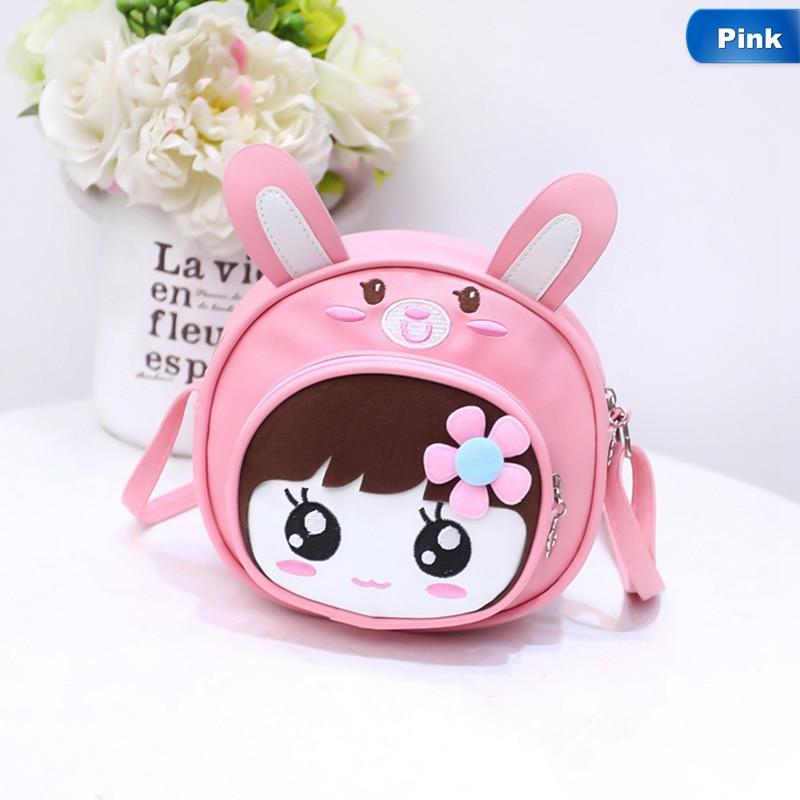 Round Phone Messenger Bag Women Bag Girls Small Shoulder Crossbody Bag Cartoon Print Sling PU Leather Children Cute