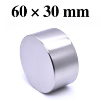 HYSAMTA 1pcs Neodymium magnet 60x30 mm gallium metal new super strong round magnets 60*30 Neodimio magnet powerful permanent