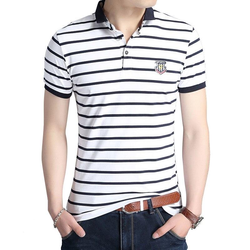 76fc7b940 Aliexpress.com   Buy New Fashion Summer Good T shirt Men Brand turn down  collar Men T Shirt Striped T Shirt Fashionable Casual Stripe Men s Clothing  from ...